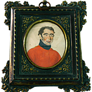 Miniature Military Portrait of British Soldier