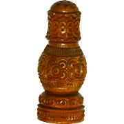 19thC Carved Coquilla Spice Shaker