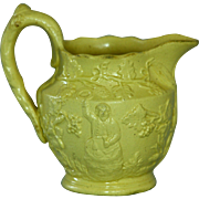 Antique Miniature Salt Glazed Yelloware Jug