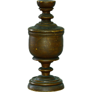 Antique Wooden Covered Chalice Goblet