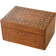 Tunbridge Marquetry Inlaid  Sewing Box