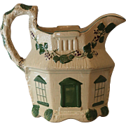 Antique Drabware Cottage House Jug Creamer