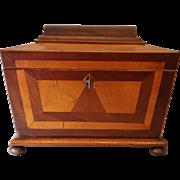 Antique Mahogany Figured Maple Desk Box