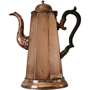Antique English Copper Coffee Pot