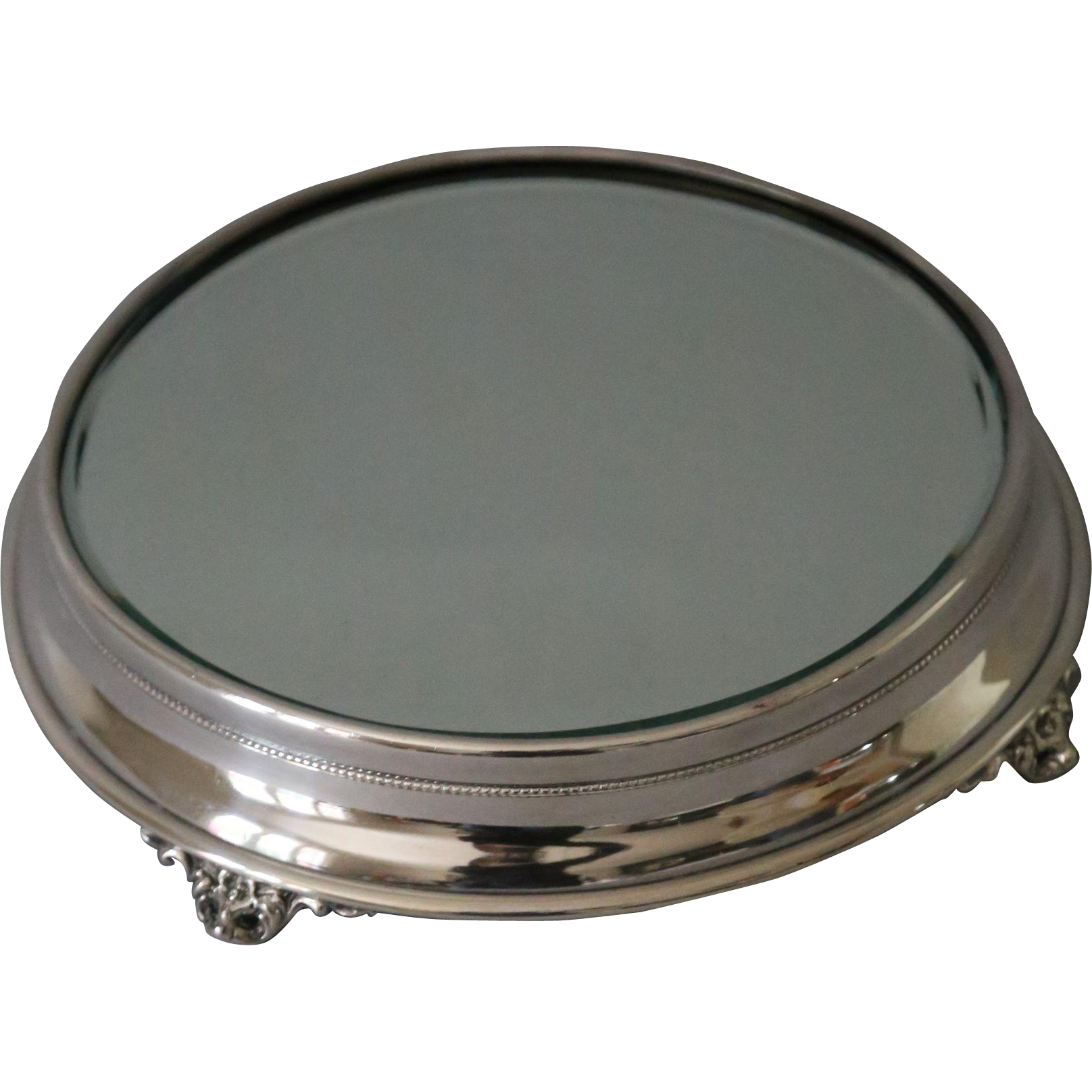 Silver table mirror plateau from englandscountrytreasures for Plateau table