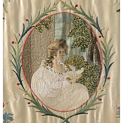 Antique Georgian Silk Embroidered Picture