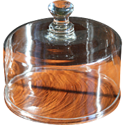 Antique Glass Cloche Dome for Cake Cheese