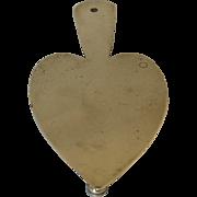 Antique Brass Heart trivet