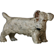Antique Cold Painted Bronze Terrier on Onyx Desk Tray