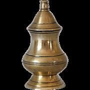 Antique Georgian Brass Pounce Pot Spice Shaker