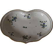 Antique Porcelain Heart Shaped Serving Dish