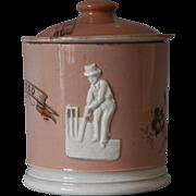 Victorian Cricket Tobacco Jar