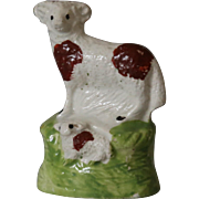 Early Antique Staffordshire Miniature Sheep