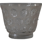 R Lalique Frosted Edelweiss Vase