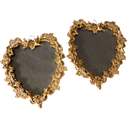 Pair of Vintage Filigree Angel Cherub Frames