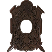 Antique Folk Frame in Black Forest Tradition
