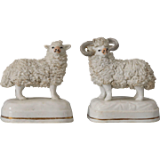Antique Staffordshire Ewe and Ram