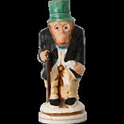 Antique Staffordshire Monkey Shaker Pepperette