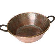 Antique Handmade Copper Pan