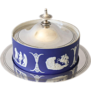 Antique Wedgwood and Silver Plate Butter or Candy Dish