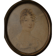 Antique Georgian Miniature Portrait by Anthony Stewart