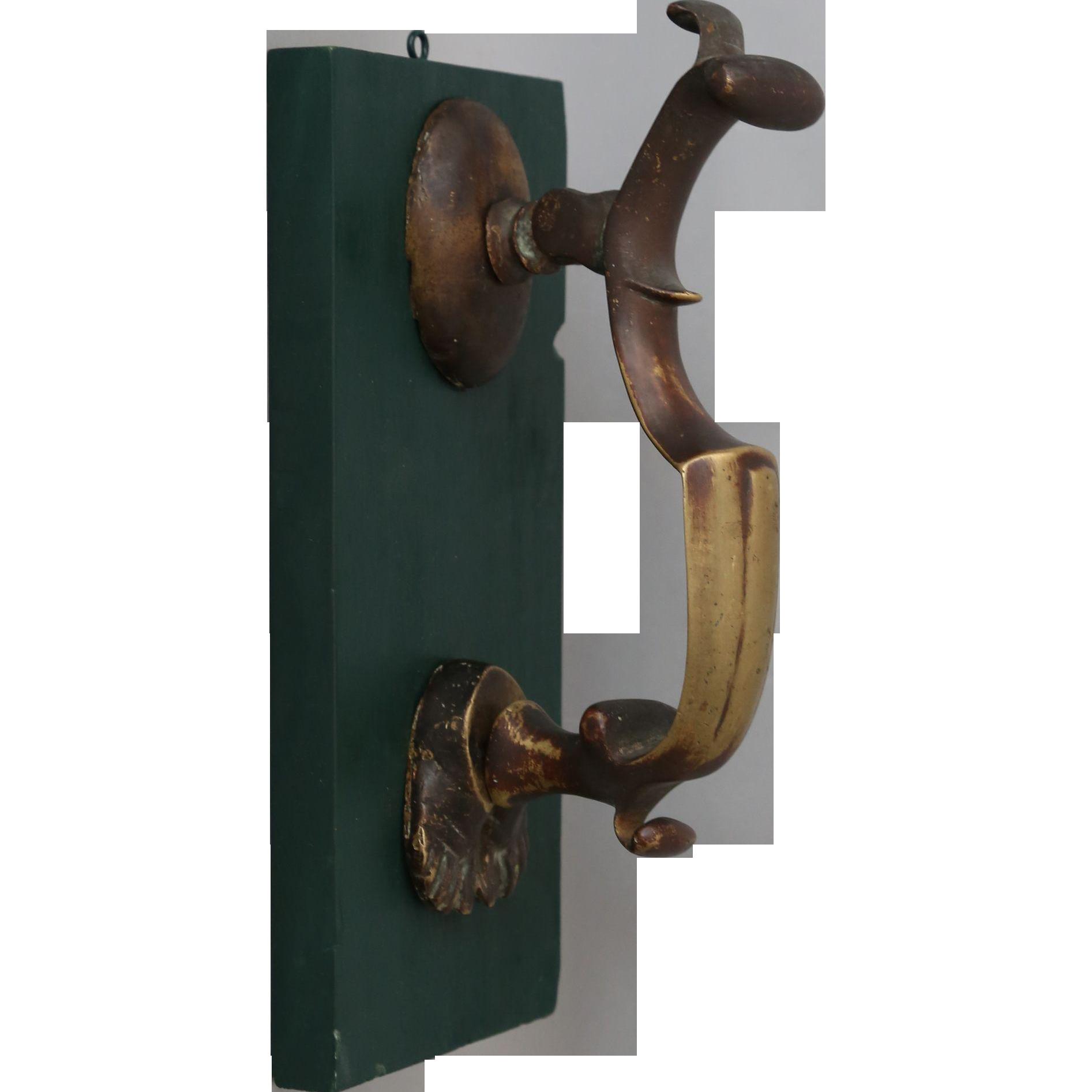 Antique georgian brass door knocker from englandscountrytreasures on ruby lane - Antique brass door knocker ...