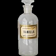 Antique Glass Druggist Vanilla Bottle by T C Wheaton Glass Co.