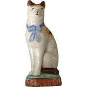 Antique Miniature Staffordshire Cat