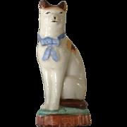 Antique Miniature Staffordshire Cat