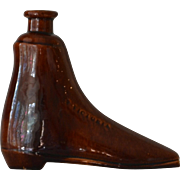 Antique Bennington Rockingham Treacle Boot Flask
