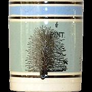 Antique Half Pint Mocha Ware Mochaware Mug