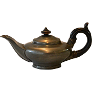 Antique Miniature or Bachelor's Pewter Teapot by Sheffield maker Dixon & Son