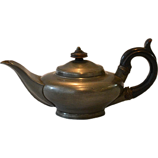 Miniature or Bachelor's Pewter Teapot by Sheffield maker Dixon & Son