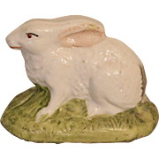 Miniature Antique Staffordshire Bunny Rabbit