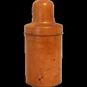 Antique Treen Wooden Medicine Apothecary Bottle Case