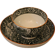 Antique Salopian Caughley Tea Bowl and Saucer