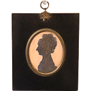 Antique Georgian Silhouette Portrait