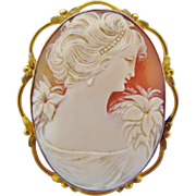 Antique Cameo 10k Brooch - Red Tag Sale Item