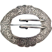Antique Sterling Buckle for a Sash