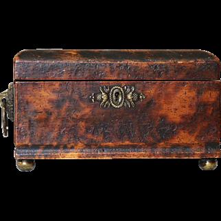 Antique Painted Document Box