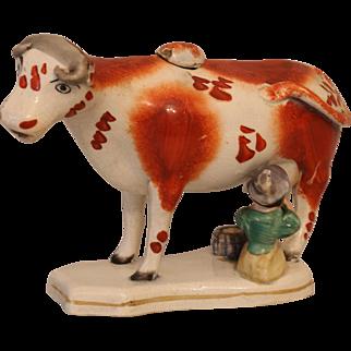 Antique Staffordshire Cow Creamer