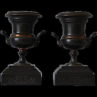 Antique Mantle Urns