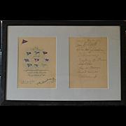 Antique New York Yacht Club Invitation 1910 from Cornelius Vanderbilt
