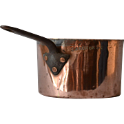 Antique Sandhurst Copper Pot Saucepan