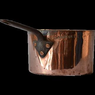Antique Sandhurst Copper Pot Saucepan