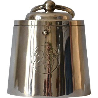 Antique Silver Humidor Cookie Tin