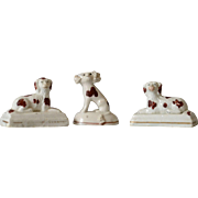 Antique Miniature Staffordshire Spaniels