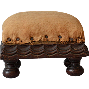 Antique Folk Pin Cushion in Footstool Form