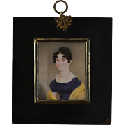 Georgian Miniature Portrait of a Young Lady
