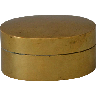 Antique Georgian Tobacco Snuff Box in Brass